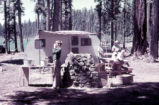 Fish Lake Campground, campers with small trailer